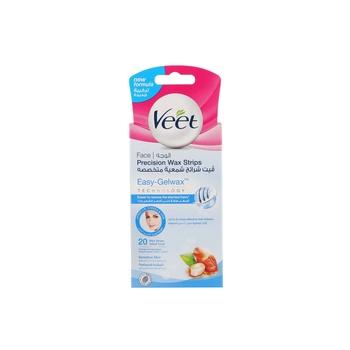 Veet Wax Strips Face Sensitive Skin 20