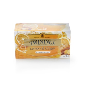 Twinings Infusions Lemon + Ginger Tea Bag 25s