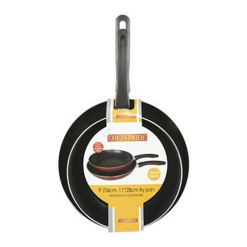 Chefs Pride Non Stick Fry Pan- 2 Pcs Value pack