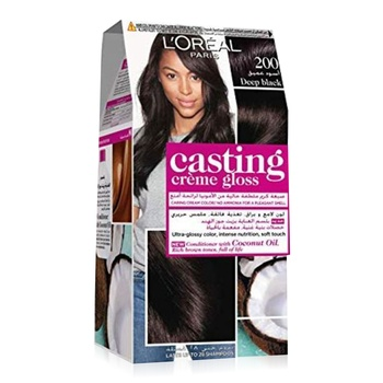 L'Oreal Paris Casting Cream Gloss Hari Color 200 Ebony Black