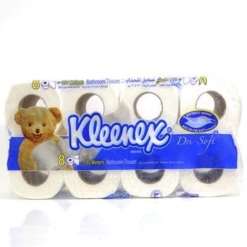 Kleenex Bathroom Tissue Dri-Soft 122 X 106mm 8pcs