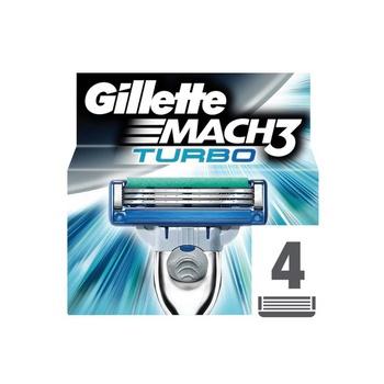 Gillette Mach 3 Turbo Blades 4pcs