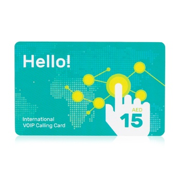 Hello Calling Card Aed 15