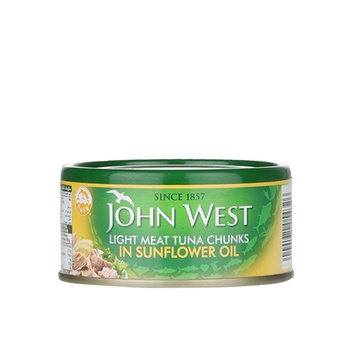 John West Light Meat Tuna Chunks Sunflower Oil 170g