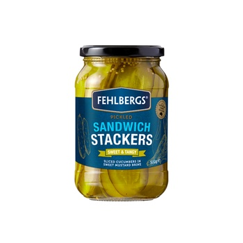 Fehlbergs Pickled Sweet & Tangy Sandwich Stackers 500g
