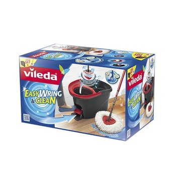 Vileda Easy Wring & Clean Microfiber Mop & Bucket with Power Spin Wringer