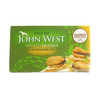 John West Smoked Mussels In Sun Flower Oil 85g