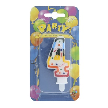 Numerical Birthday Candle Number - 4