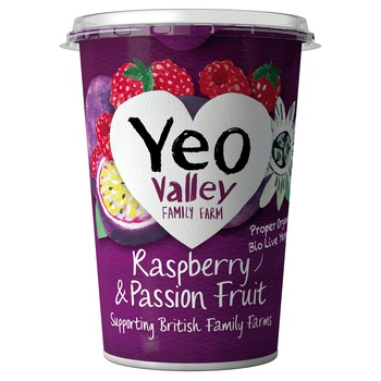 Yeo Valley Organic Yoghurt Raspberry & Passion Fruit 450g