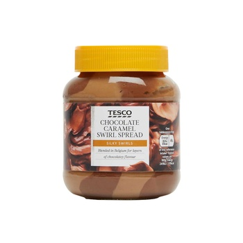 Tesco Chocolate Caramel Swirl Spread 400g