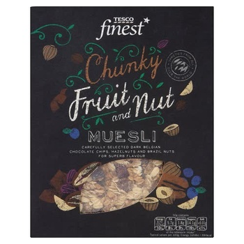 Tesco Finest Chunky Fruit & Nut Muesli 750g