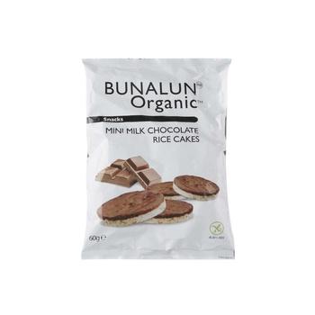 Bunalun Organic Mini Chocolate Rice Cakes 60g