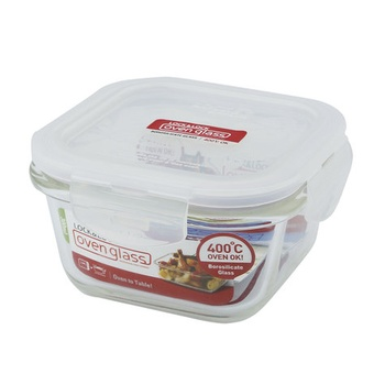 Lock & Lock Glass Square Container- 300ml