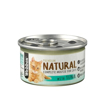 Webbox Natural Cat Food Mousse Tuna 85g