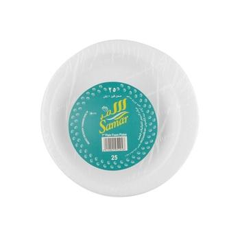 Samar Foam Plates White 7inches