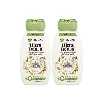 Loreal Garnier Ultra Doux Almond Milk Shampoo 400ml Pack Of  2