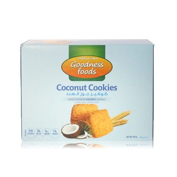 Goodness Foods Coconut Cookies 250g
