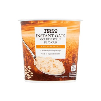 Tesco Instant Oats Gold Syrup Porridge 55g