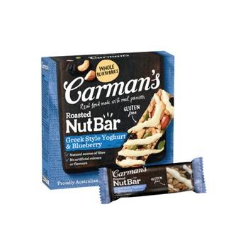 Carmans Greek Style Yoghurt & Blueberry Nut Bar 160g