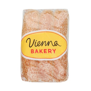 Vienna Bakery Brown Hot Dog Rolls 6 Pieces 90g