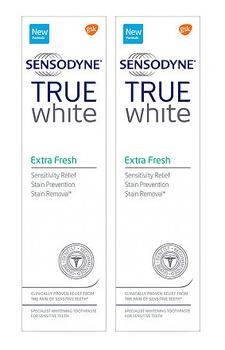 Sensodyne True White Extra Fresh Toothpaste 75ml Twin Pack
