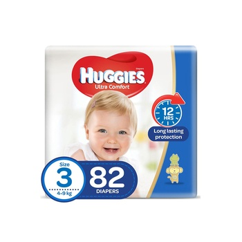 Huggies Ultra Comfort Diapers Size 3 Jumbo Pack 82 Pices @ 20% Off