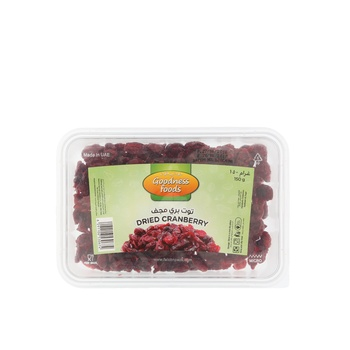 Goodness Foods Dried Cranberry (B) 150g