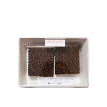 Skinny Genie Vegan & Gluten Free Salted Caramel Chocolate Brownie 80g 2 pcs