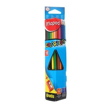 Maped Coloring Pencils Triangular -12pcs pack