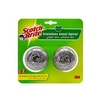 3M Scotch Brite Metalic Spiral Ball (Blister Pack)