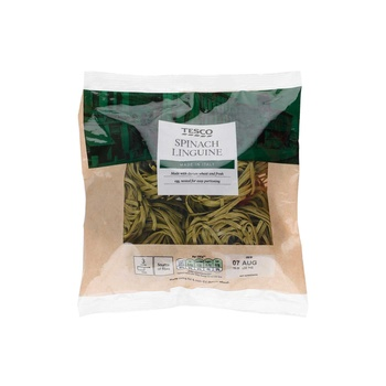 Tesco Linguine Spinachnests 300G