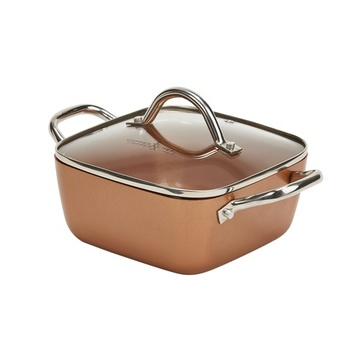 Copper Chef Square Deep Dish Pan with Glass lid 8 inch
