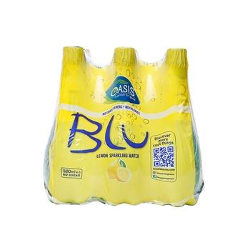 Oasis Blu Sparkling Lemon Water 6 x 500ml