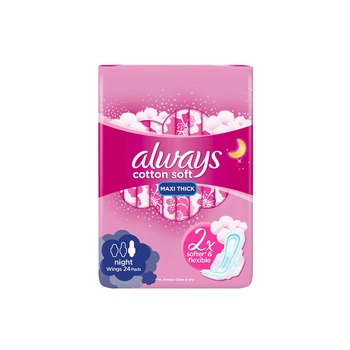 Always Thick Sensitive Premium Night 24 pc
