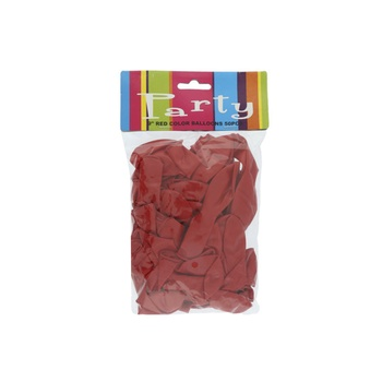 Balloon Assorted Red - 50pcs pack