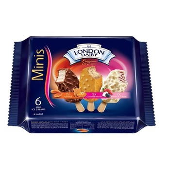 London Dairy Mini Almond Caramel Berries 6X60Ml