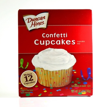Duncan Hines Snack Mix Cupcake Confetti White 240g