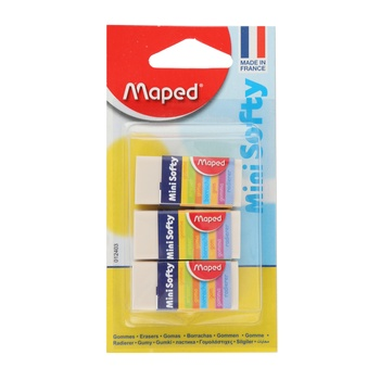 Maped Eraser Mini Soft - 3pcs pack