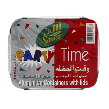 Samar Aluminium Containers With Lids Small 10pcs