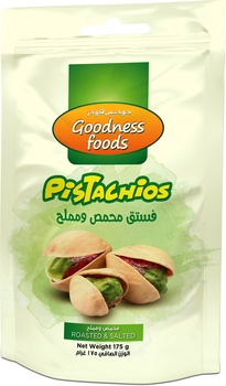 Goodness Foods Pistachios Roasted Salted Sp 175Gms