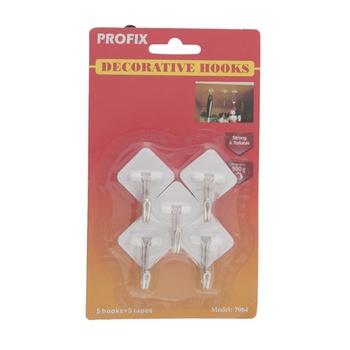 Profix Adhesive Kitchen Hook -Metal Holder # 1064