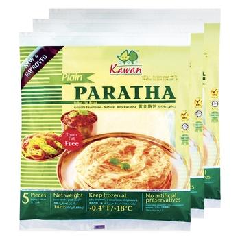 KG Paratha 3 Pack Plain 400g