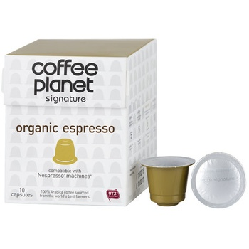 Coffee Planet Nespresso Compatible Capsules Organic 10 x 5g