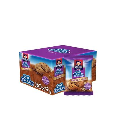 Quaker Oats Cookies Raisin 30x9g