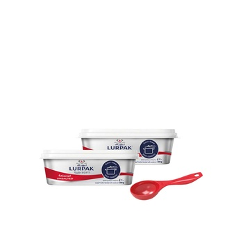 Lurpak Soft Unsalted 2 x 200g + Free Measuring Spoon