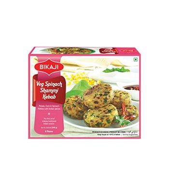Bikaji Veg Spinach Shami Kebab 240g