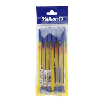 Pelikan Stick Pen Blue - 6pcs pack.