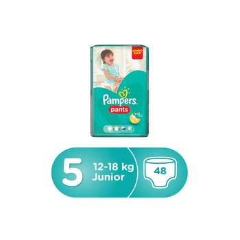 Pampers Pants Diapers, Size 5, Junior, 12-18 Kg, Jumbo Pack, 48 Count @ 10% Off