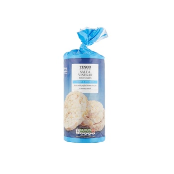 Tesco Salt & Vinegar Rice Cakes 128g