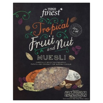 Tesco Finest Tropical Fruit & Nut Muesli 750g